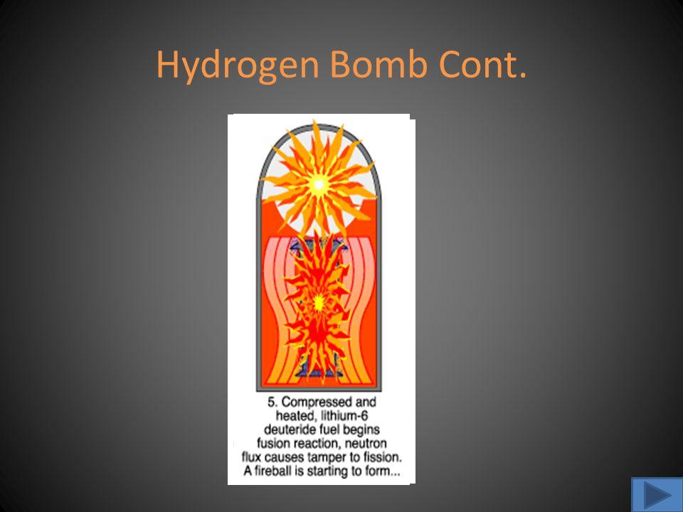Hydrogen Bomb Cont.