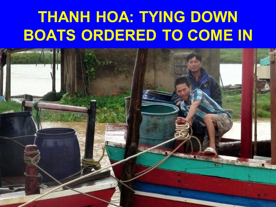 THANH HOA: TYING DOWN BOATS ORDERED TO COME IN
