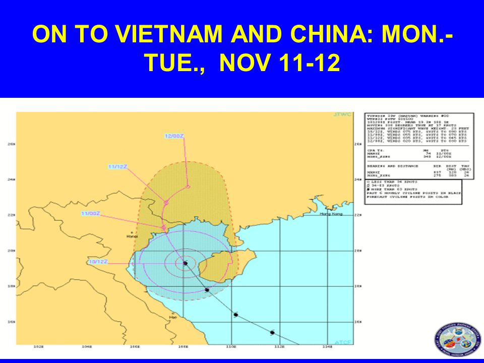 ON TO VIETNAM AND CHINA: MON.- TUE., NOV 11-12