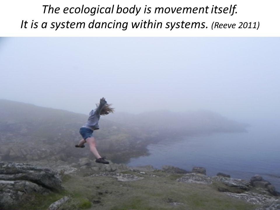 The ecological body is movement itself. It is a system dancing within systems. (Reeve 2011)