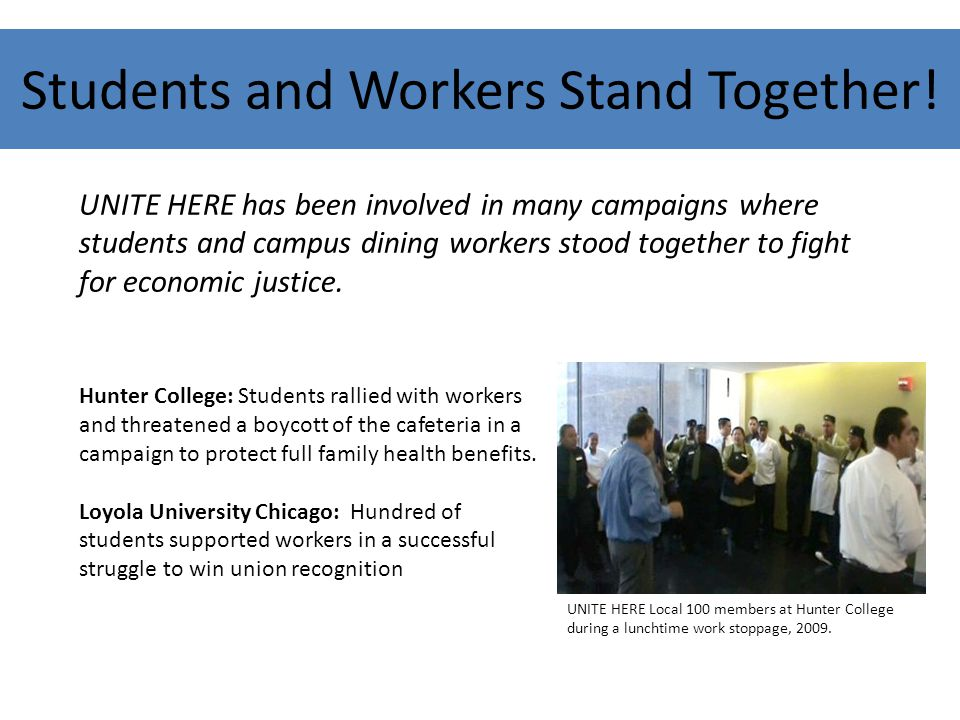 Students and Workers Stand Together.