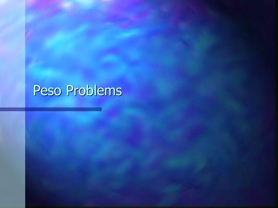 Peso Problems