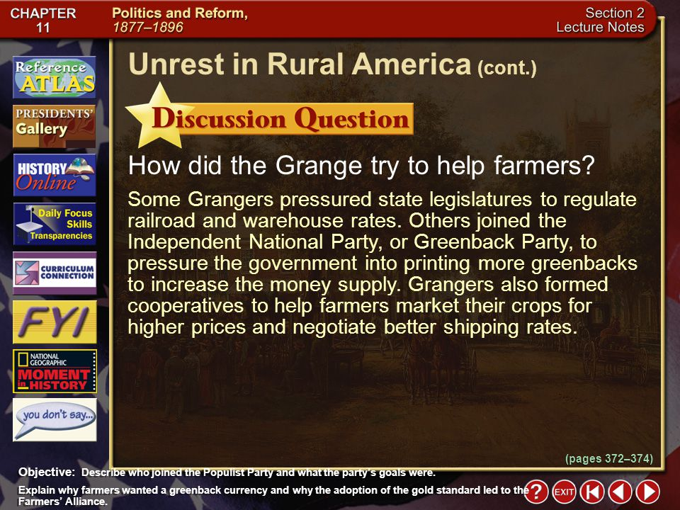 Section 2-11 How did the Grange try to help farmers.