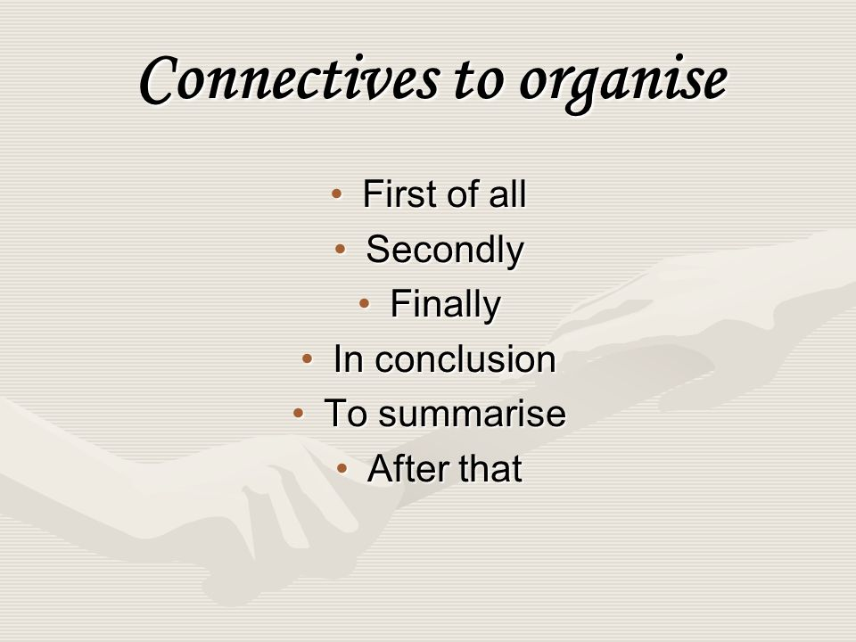 Connectives to indicate results or consequences As a resultAs a result ThereforeTherefore ConsequentlyConsequently Because of thisBecause of this Thanks to thisThanks to this
