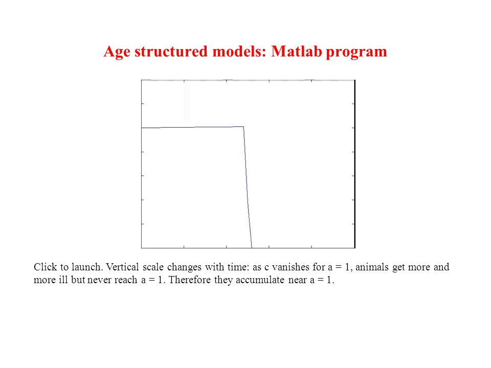 Age structured models: Matlab program Click to launch.