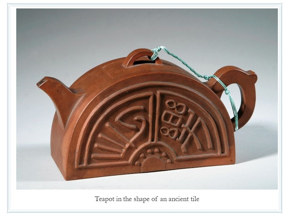 Teapot in the shape of an ancient tile