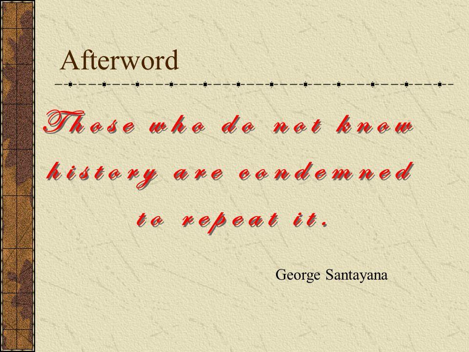 Afterword George Santayana