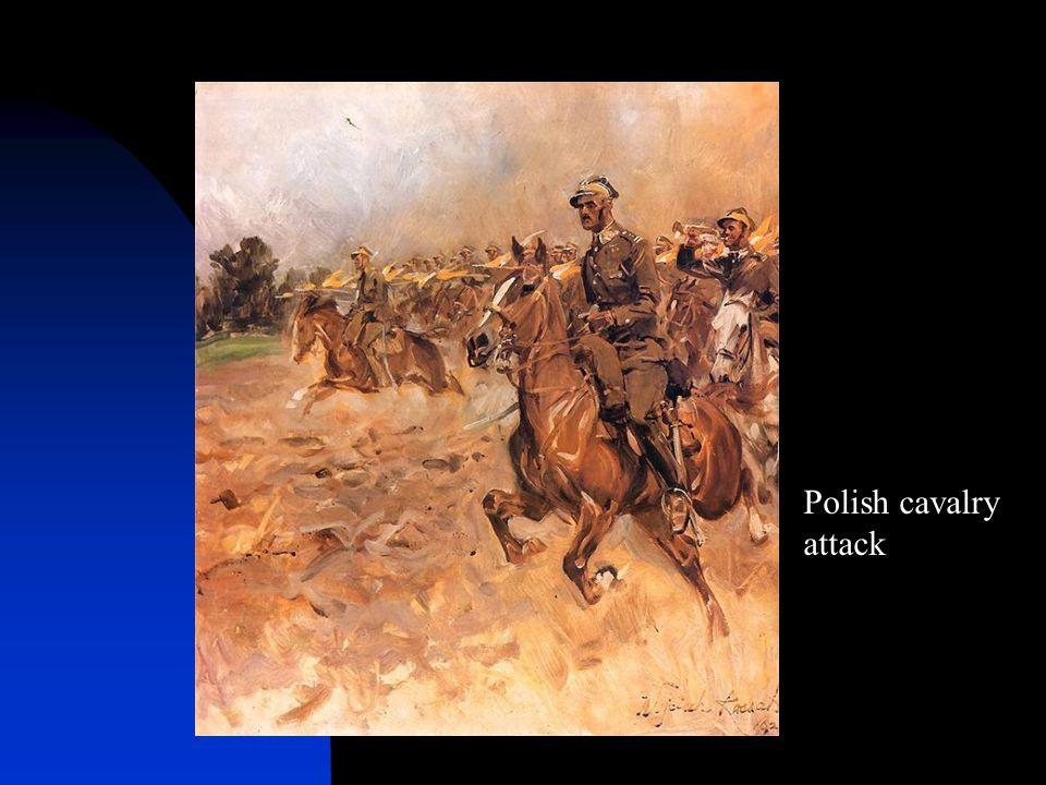 Polish cavalry attack