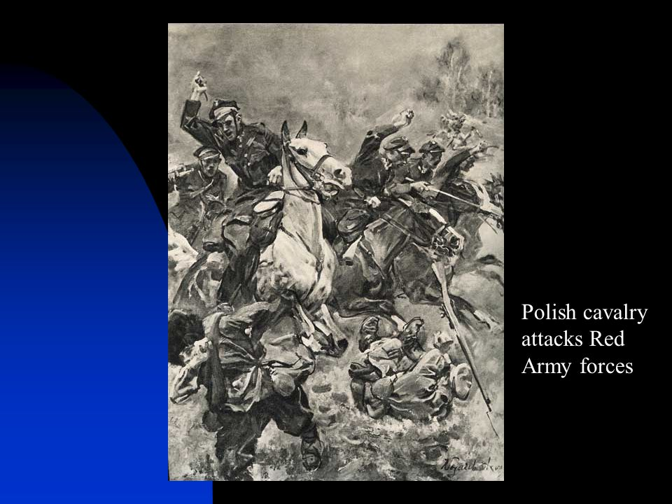 Polish cavalry attacks Red Army forces