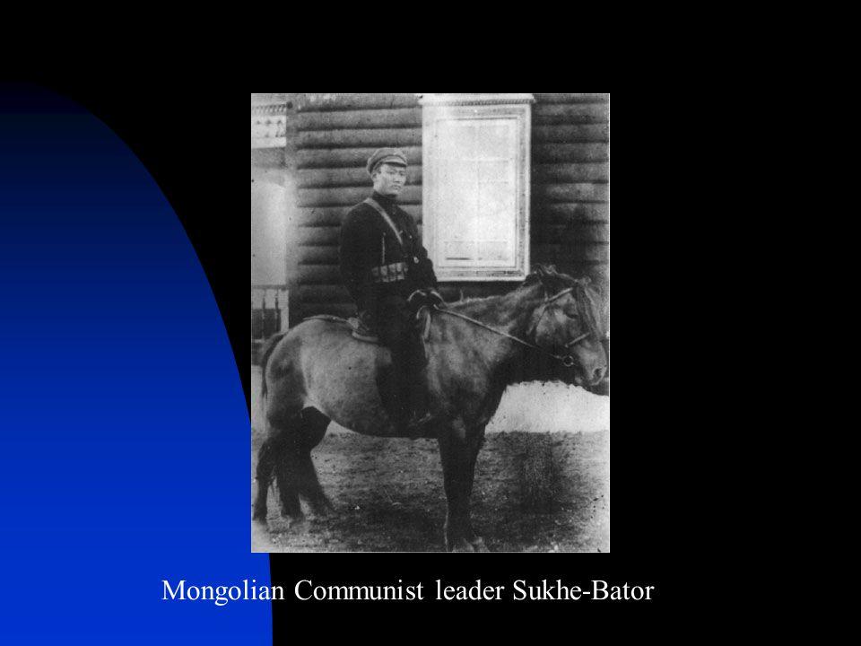 Mongolian Communist leader Sukhe-Bator