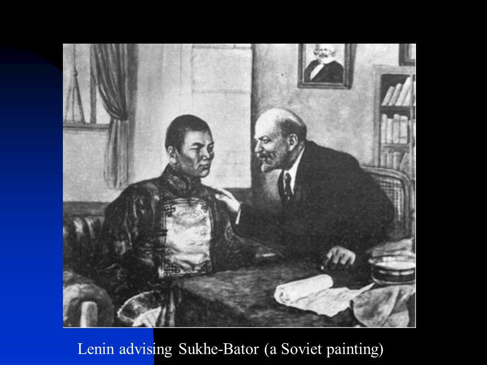 Lenin advising Sukhe-Bator (a Soviet painting)