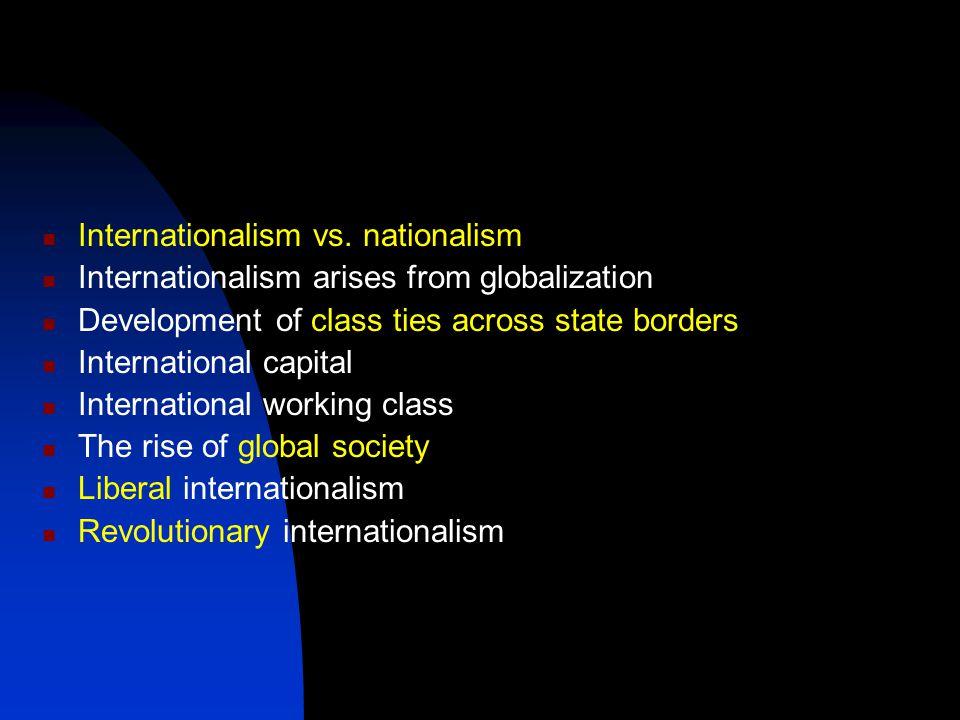 Internationalism vs.