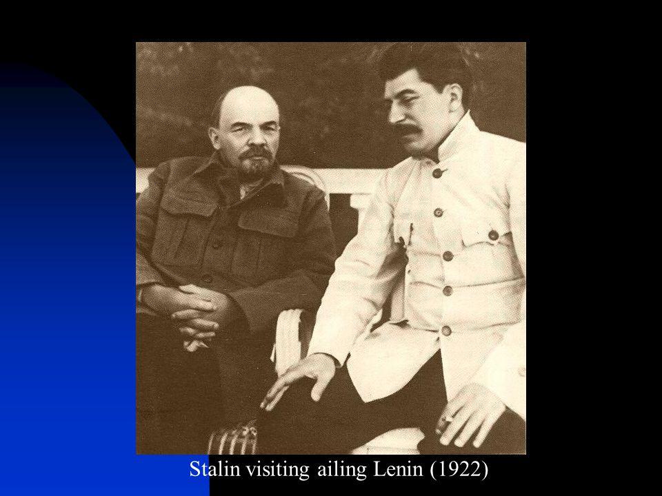 Stalin visiting ailing Lenin (1922)
