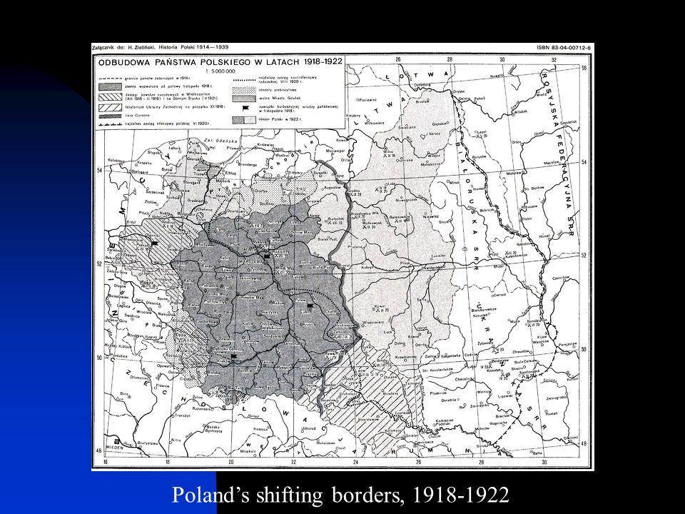 Poland's shifting borders, 1918-1922