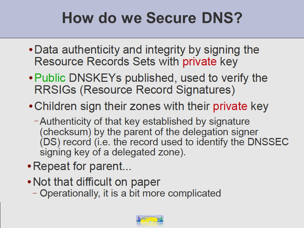 How do we Secure DNS