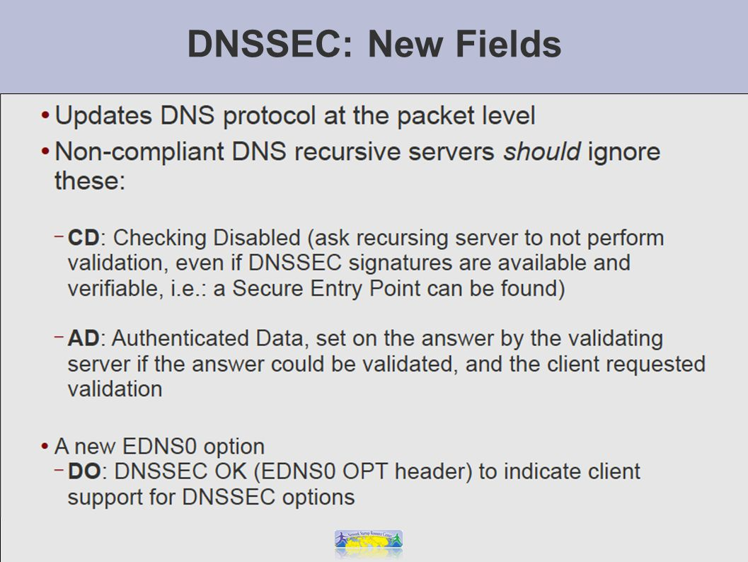 DNSSEC: New Fields
