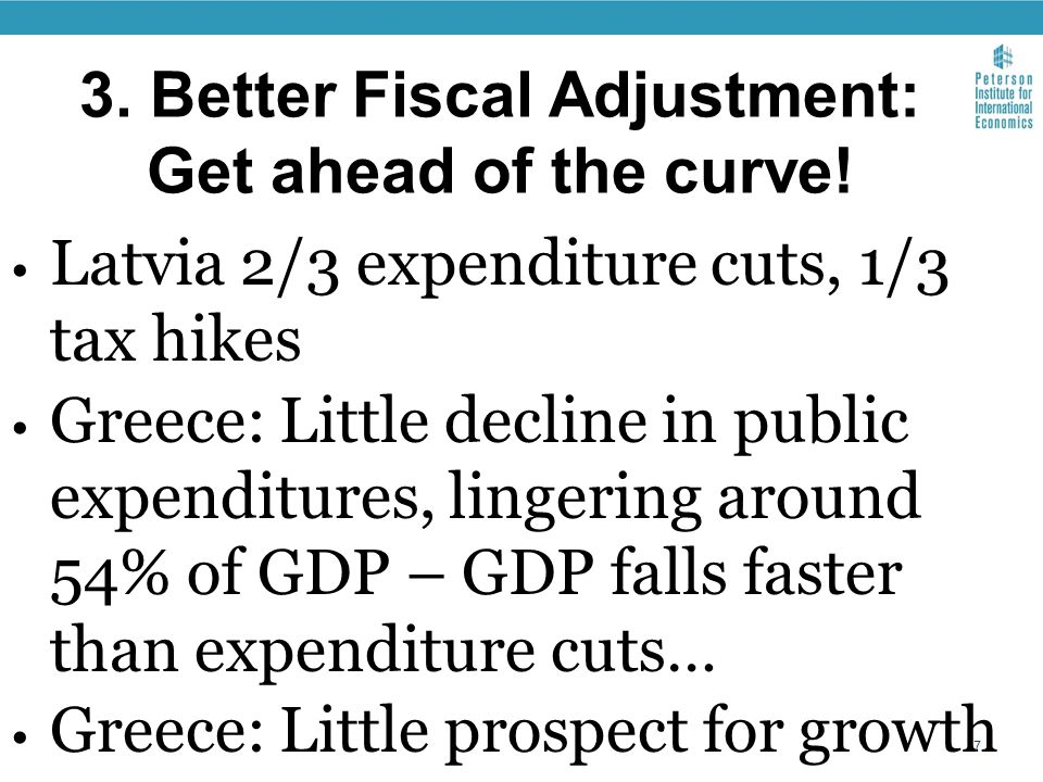 3. Better Fiscal Adjustment: Get ahead of the curve.