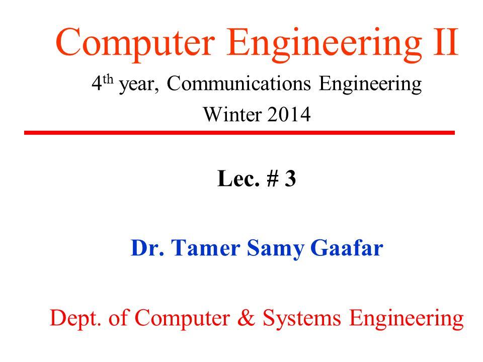 Course Web Page http://www.tsgaafar.faculty.zu.edu.eg Email: tsgaafar@yahoo.com