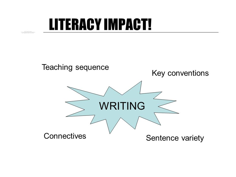 LITERACY IMPACT! The 20 most important bits of grammatical knowledge needed by effective teachers