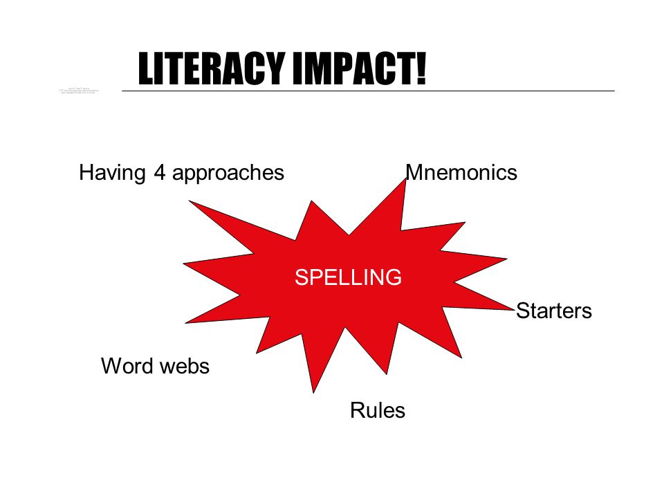 LITERACY IMPACT! So … What have you done? What are you going to do?