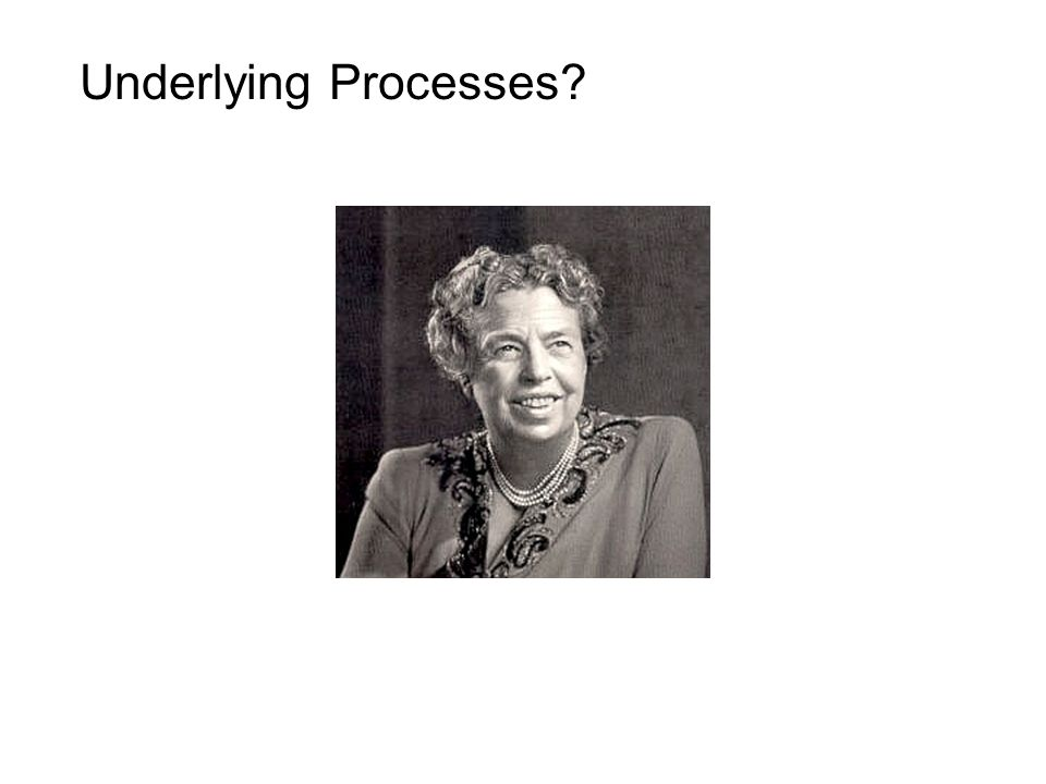 Underlying Processes