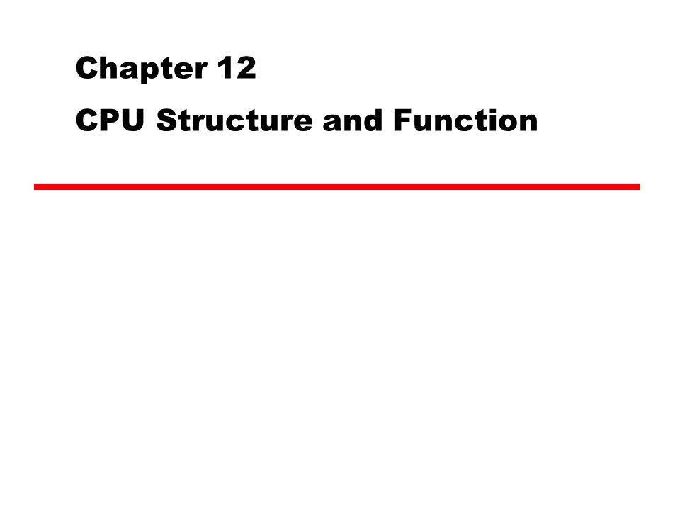 CPU Sequence Fetch instructions Interpret instructions Fetch data Process data Write data