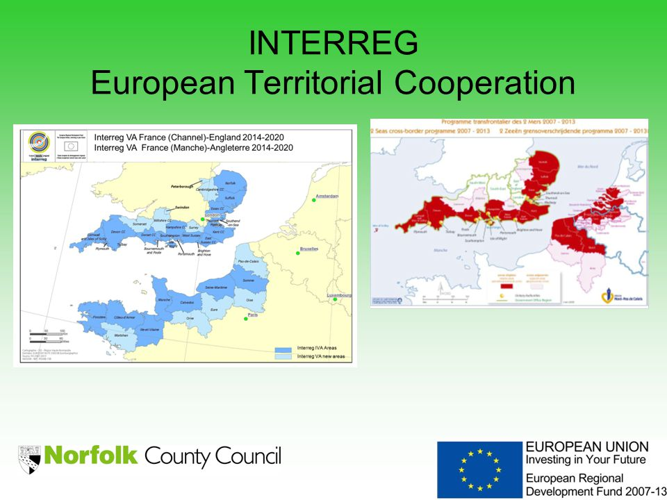 INTERREG European Territorial Cooperation Maps