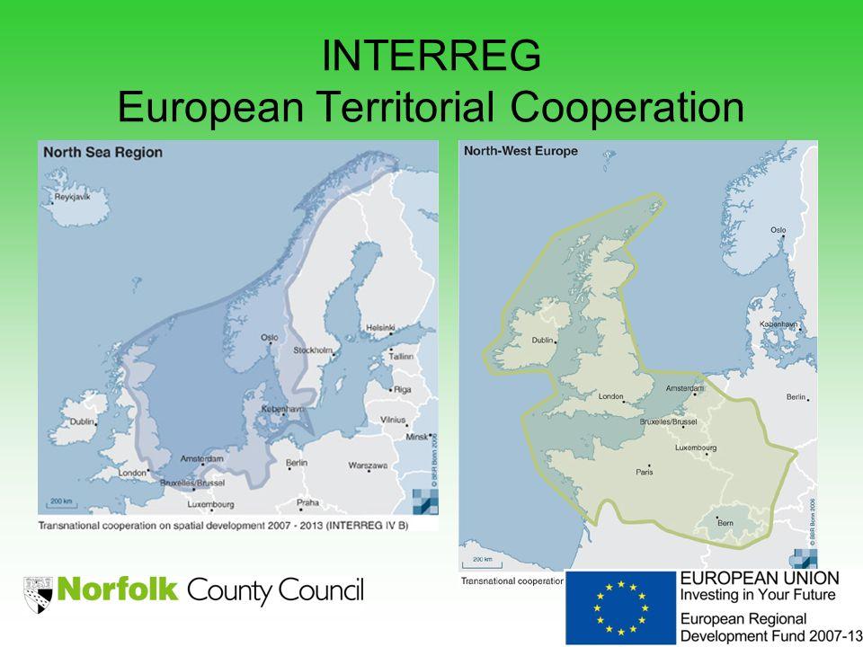 INTERREG European Territorial Cooperation