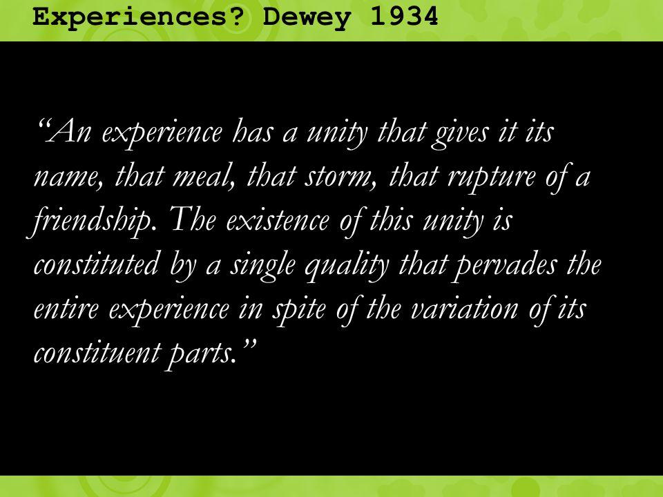 Experiences.