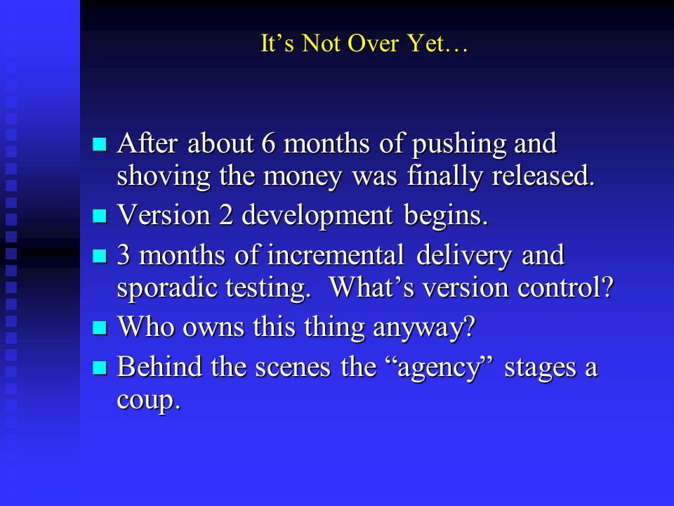 To make a long story short er CASC adds position July 1, 2000 CASC adds position July 1, 2000 I begin work July 16 I begin work July 16 Did I mention the waiting list.