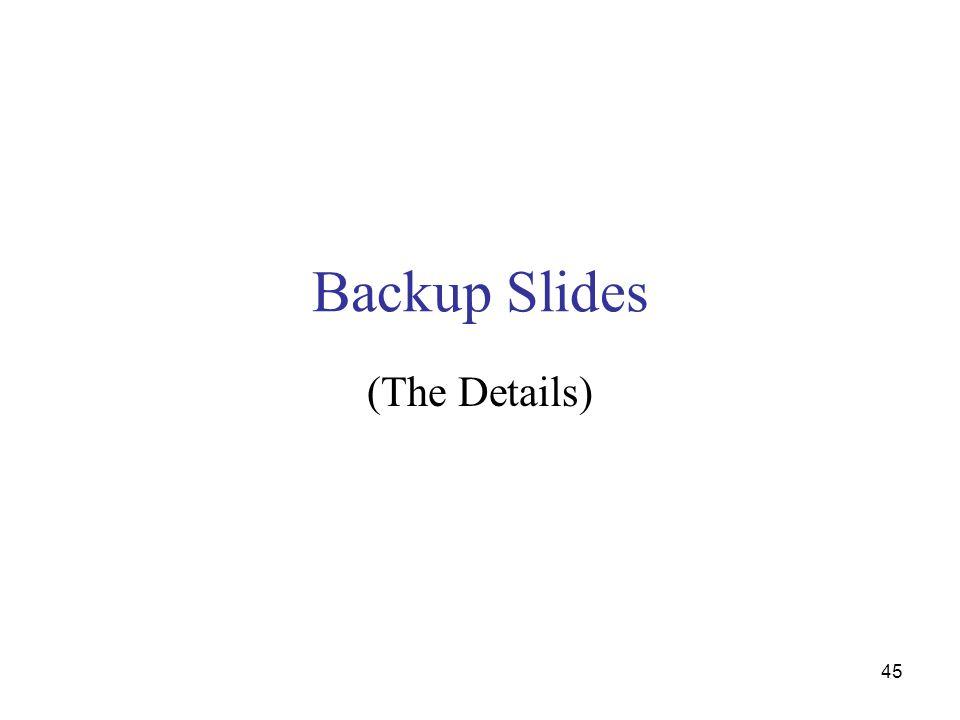 Backup Slides (The Details) 45