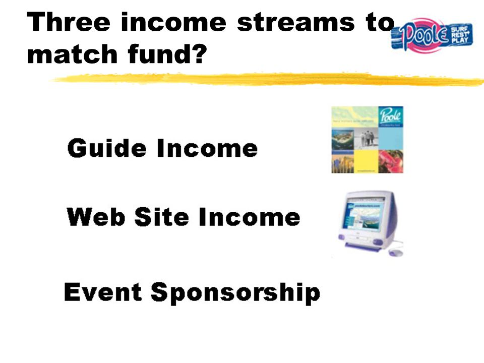 Three income streams to match fund