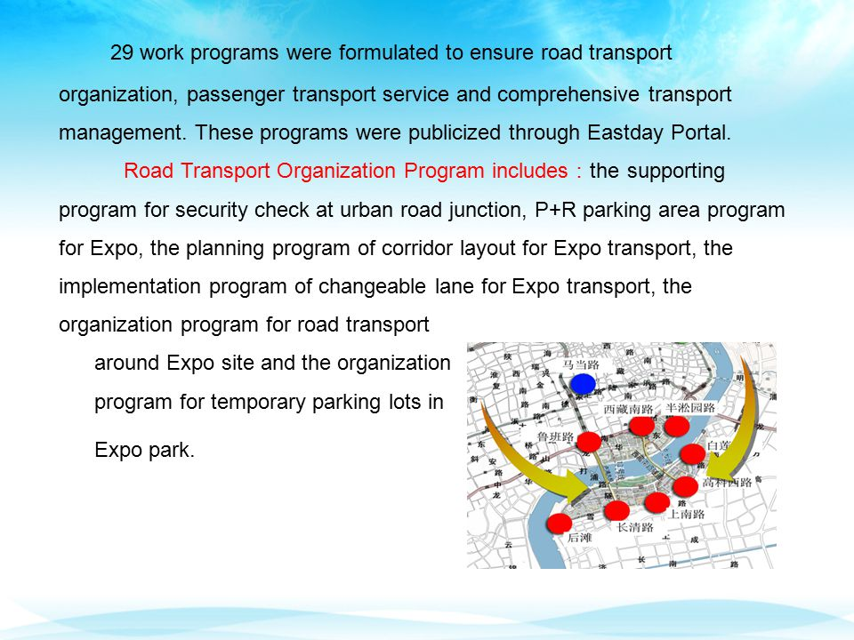 29 work programs were formulated to ensure road transport organization, passenger transport service and comprehensive transport management.