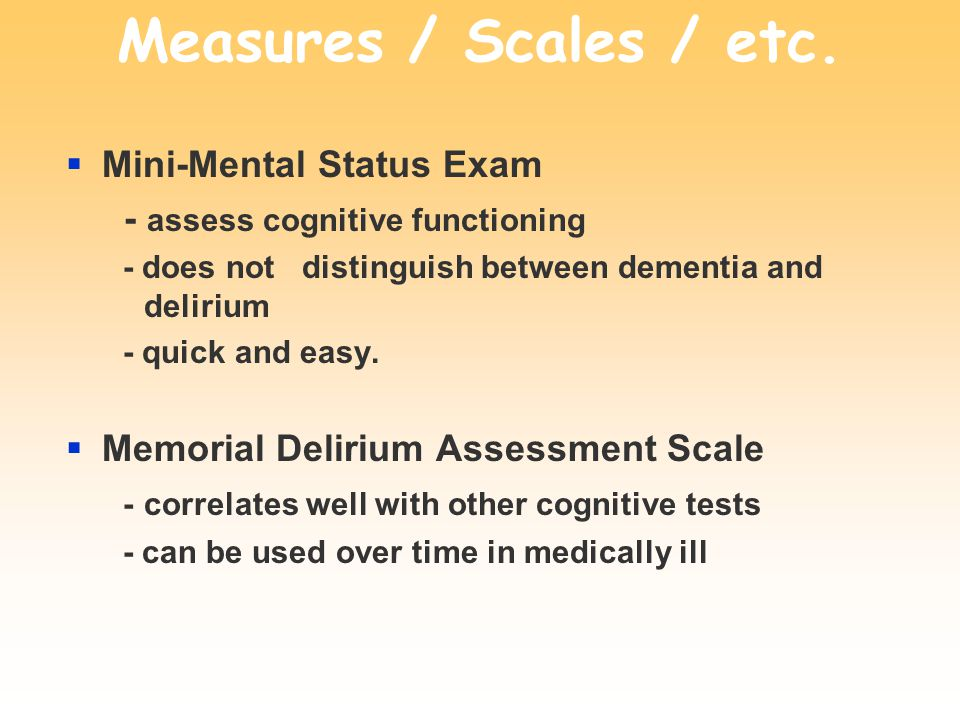 Measures / Scales / etc.