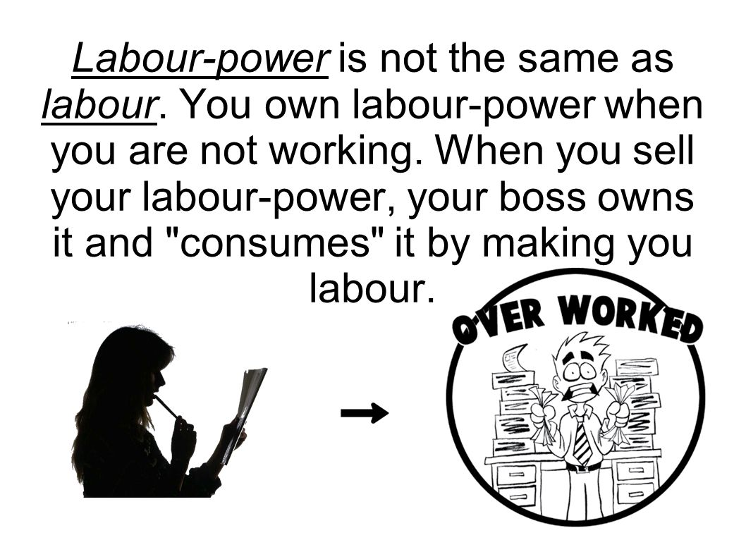 Labour-power is not the same as labour. You own labour-power when you are not working. When you sell your labour-power, your boss owns it and