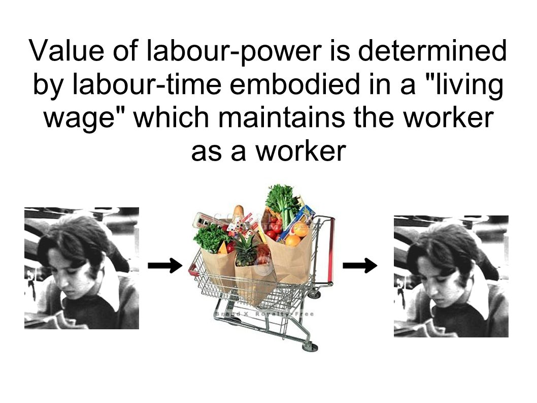Value of labour-power is determined by labour-time embodied in a