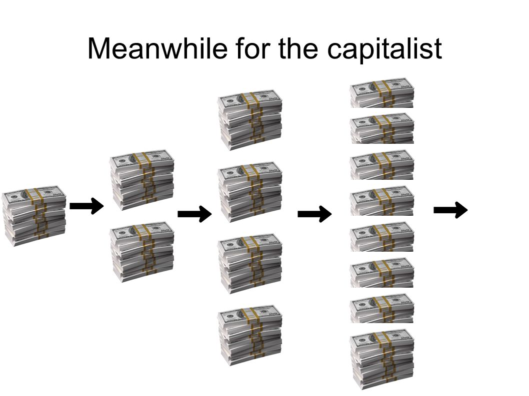 Meanwhile for the capitalist