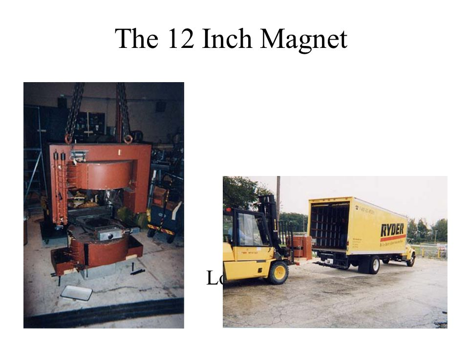 The 12 Inch Magnet Loading the Magnet at ANL