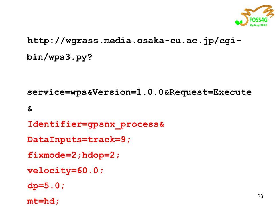 23 http://wgrass.media.osaka-cu.ac.jp/cgi- bin/wps3.py.
