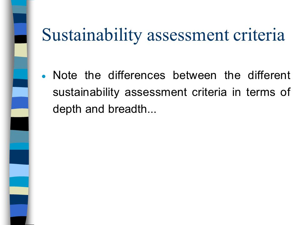 Environmental assessments & sustainability  Environmental assessments of buildings fail as 'sustainability assessments'.