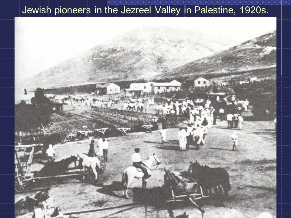 Jewish pioneers in the Jezreel Valley in Palestine, 1920s.