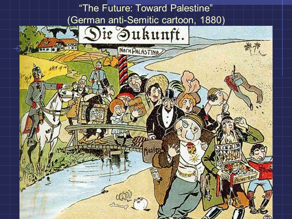 The Future: Toward Palestine (German anti-Semitic cartoon, 1880)