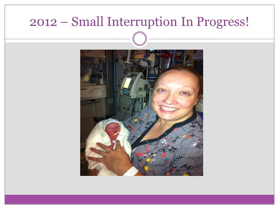 2012 – Small Interruption In Progress!