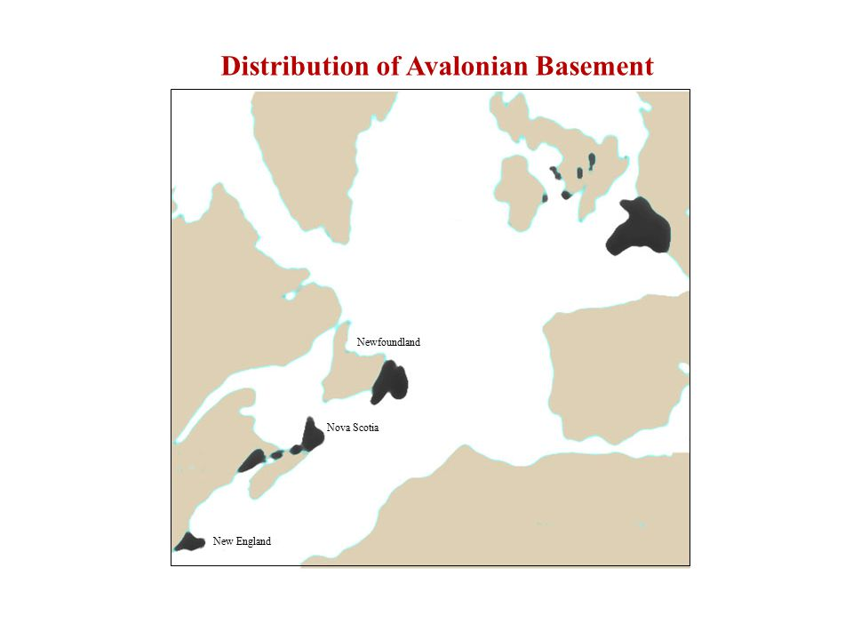 Newfoundland Nova Scotia New England Distribution of Avalonian Basement