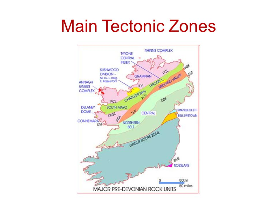 Main Tectonic Zones