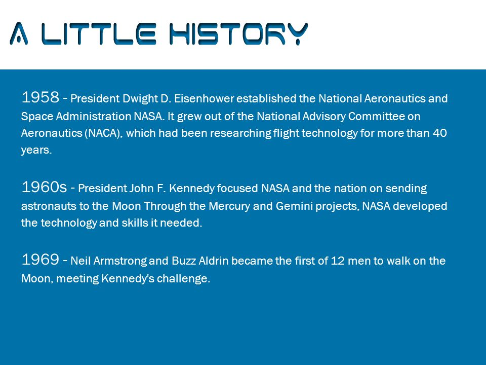 A Little History 1958 - President Dwight D.