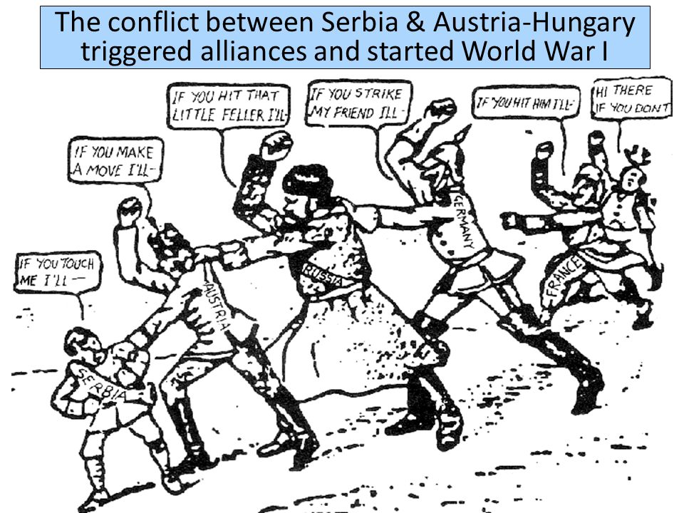 militarism alliancesimperialismnationalism From 1870 to 1914, the growth of militarism, alliances, imperialism, & nationalism increased tensions increased among European nations Nationalism among Slavs in the Balkans led to the assassination of Archduke Franz Ferdinand in 1914