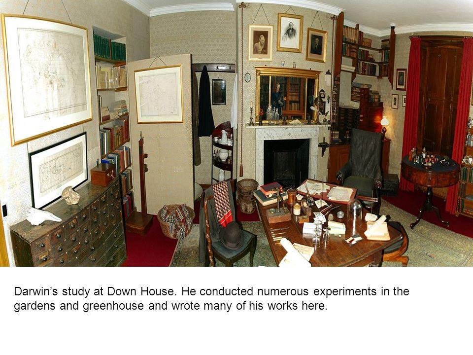 Darwin Naturally Selects Emma Darwin's study at Down House.