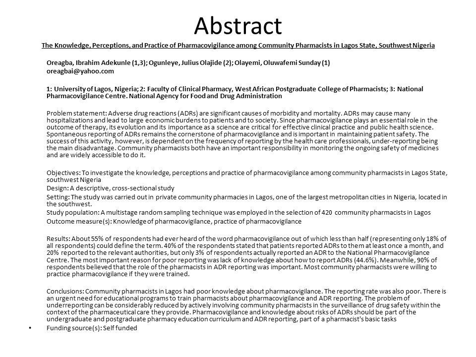 Introduction The concept of Pharmacovigilance (PVG) i.e.