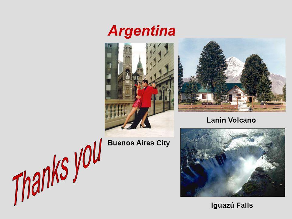 Argentina Iguazú Falls Lanin Volcano Buenos Aires City